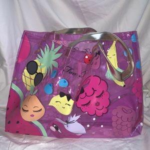 NWT Too Faced beach bag